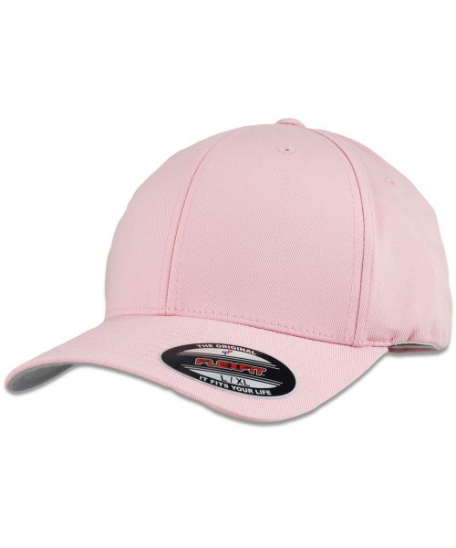 Yupoong FlexFit Wooly Combed Cap Blank Adjustable Stretch Fit Hat Pink