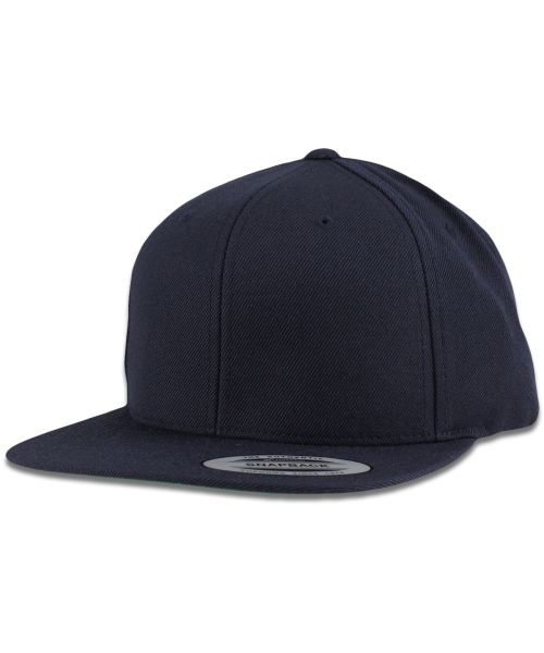 Yupoong The Authentic Premium Blank Snapback Hat Dark Navy Blue