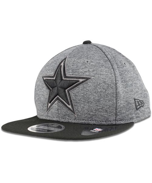 New Era Dallas Cowboys NFL Heather Huge 9FIFTY Original Fit Snapback Hat Heather Greay Black