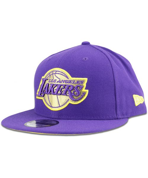 New Era Los Angeles Lakers NBA Stopper Logo OTC 9FIFTY Snapback Hat Purple