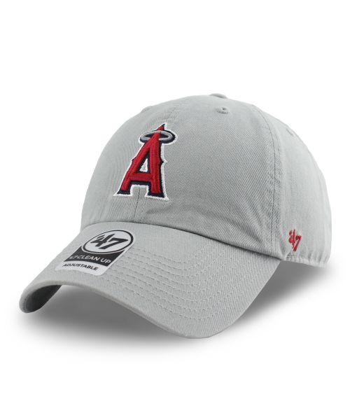 '47 Brand Los Angeles Angels MLB Clean Up Adjustable Strapback Hat Gray