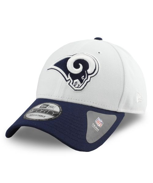 New Era Los Angeles Rams NFL The League 9FORTY Velcroback Hat White Navy Blue
