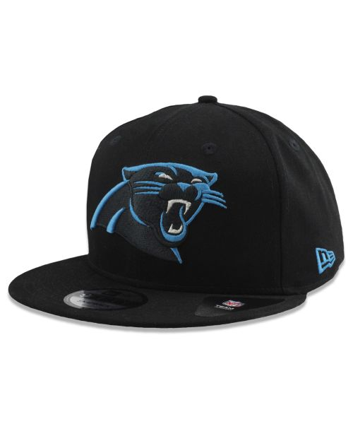 New Era Carolina Panthers NFL Basic Snap OSFM 9FIFTY Snapback Hat Black