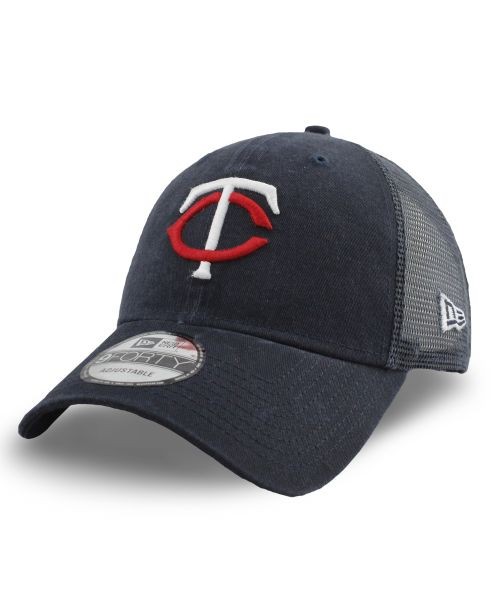 New Era Minnesota Twins MLB 9FORTY Truck Snapback Adult Hat Navy Blue