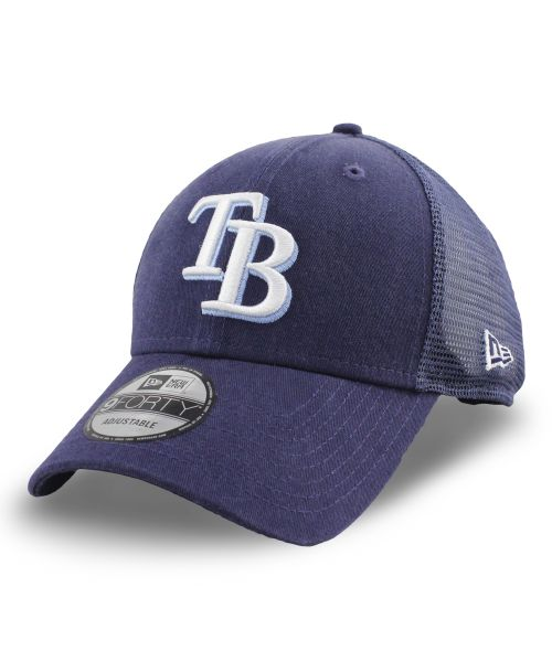 New Era Tampa Bay Rays MLB 9FORTY Truck Snapback Adult Hat Navy Blue