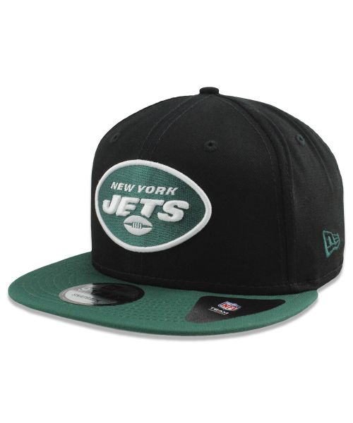 New Era New York Jets NFL Basic Snap 9FIFTY Snapback Adult Hat Black Green