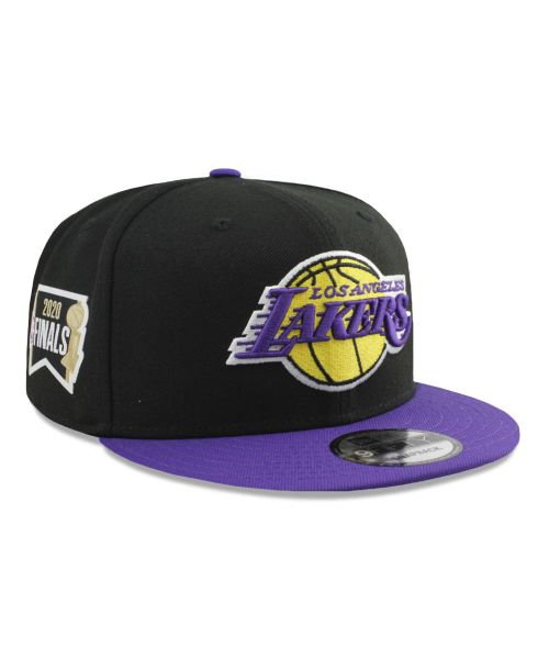New Era Los Angeles Lakers NBA 2020 Finals Bound Side Patch 2Tone 9FIFTY Snapback Adult Hat Black Purple