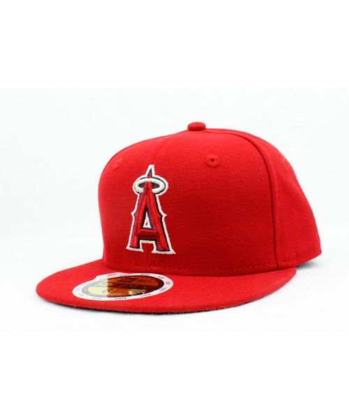 540cf260c673a Los Angeles Angels MLB Authentic Collection Junior AC Performance New Era  Official On Field GAME KIDS 59FIFTY Youth Fitted Hat Red Cap