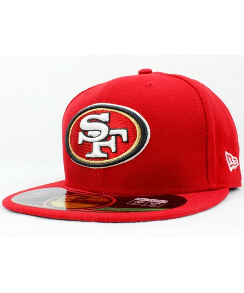 b6c02c180 New Era San Francisco 49ers Authentic NFL On Field 59FIFTY Fitted Hat Red