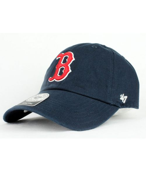 ed2f49f6cd0  47 Brand Boston Red Sox MLB Authentic Clean Up YOUTH Soft Strapback Hat  Navy Blue