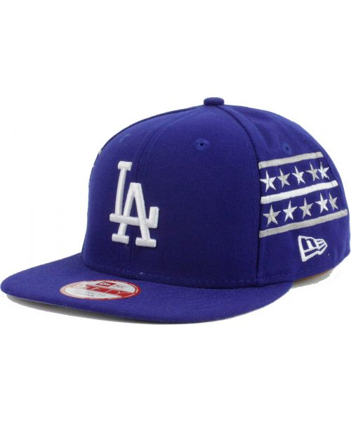 info for 35f6d c832c New Era Los Angeles Dodgers MLB Fine Side 9FIFTY Snapback Hat Blue
