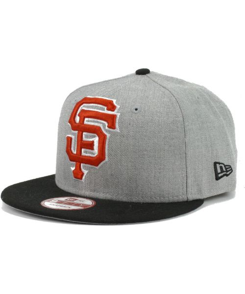 new product cd8dd 87dbc New Era San Francisco Giants MLB Heather Grand 9FIFTY Snapback Hat Heather  Gray Black