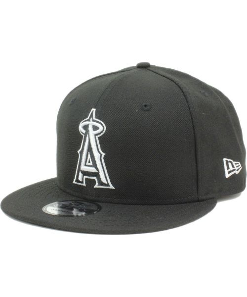 online store d5433 bfab8 New Era Los Angeles Angels MLB League Basic 9FIFTY Snapback Hat Black White  Logo