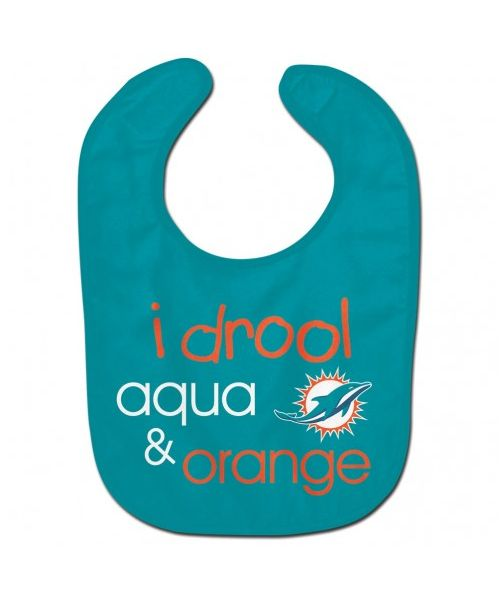 Wincraft Miami Dolphins NFL Authentic All Pro Baby Bib Teal