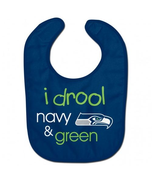 Wincraft Seattle Seahawks NFL Authentic All Pro Baby Bib Navy Blue