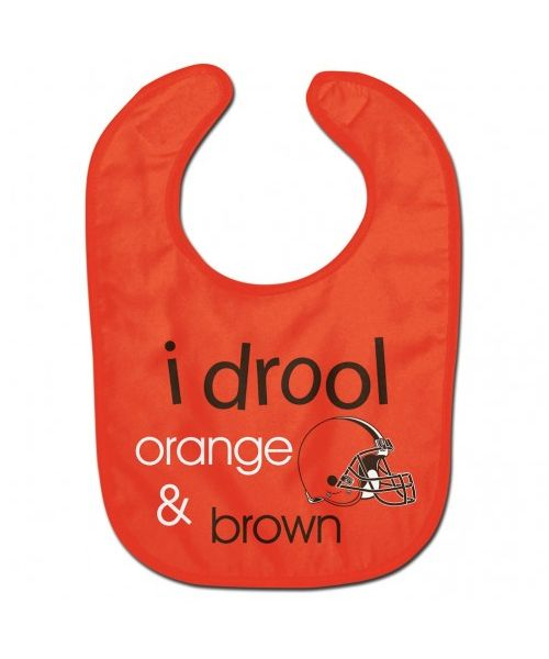 Wincraft Cleveland Browns NFL Authentic All Pro Baby Bib Orange