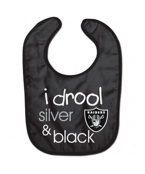 Wincraft Oakland Raiders NFL Authentic All Pro Baby Bib Black Silver