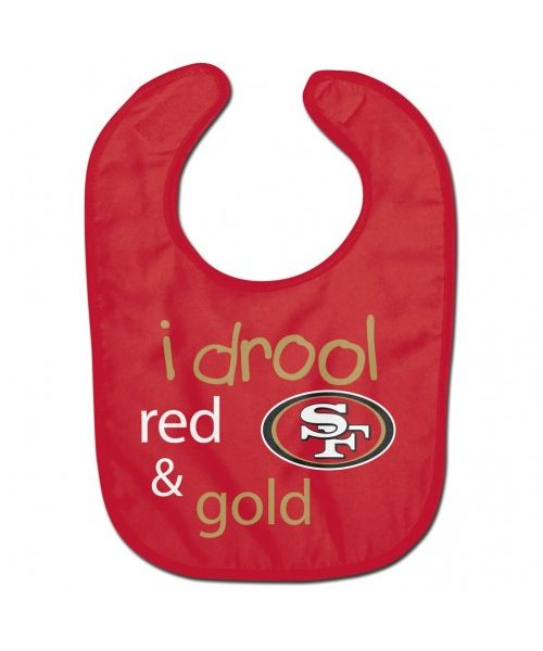 Wincraft San Francisco 49ers NFL Authentic All Pro Baby Bib Red Gold