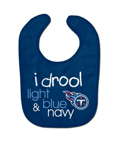 Wincraft Tennessee Titans NFL Authentic All Pro Baby Bib Navy Blue