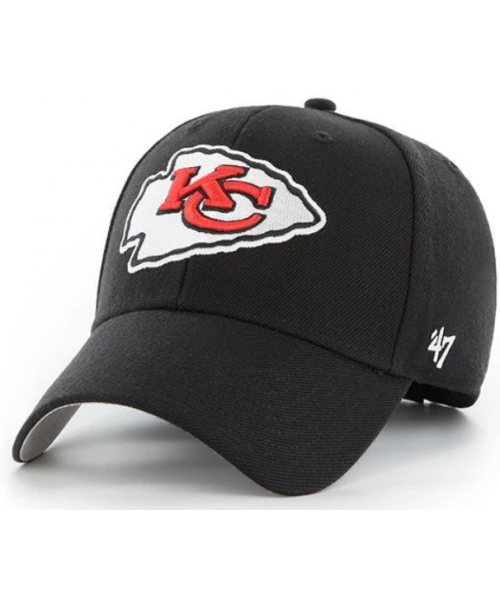 '47 Brand Kansas City Chiefs NFL MVP Adjustable Velcroback Hat Black
