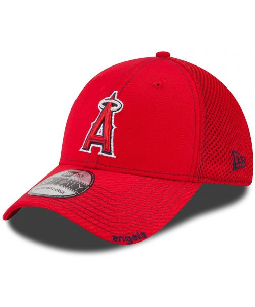 huge selection of 49a89 15db9 New Era Los Angeles Angels MLB Neo 39THIRTY Stretch Fit Hat Red
