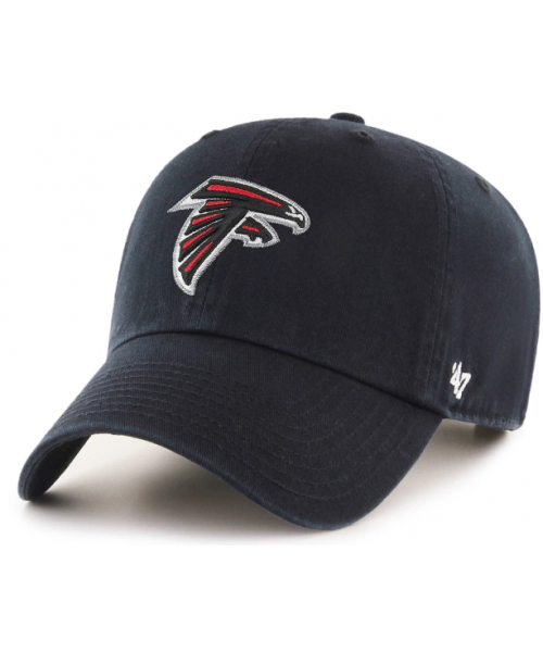 '47 Brand Atlanta Falcons NFL Clean Up Adjustable Strapback Hat Black