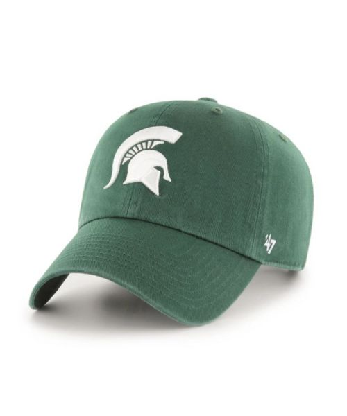 47' Brand Michigan State Spartans NCAA Clean Up Strapback Adjustable Hat Green