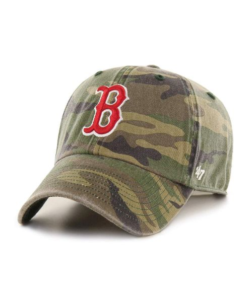 '47 Brand Boston Red Sox MLB Clean Up Adjustable Adult Hat Green Camo
