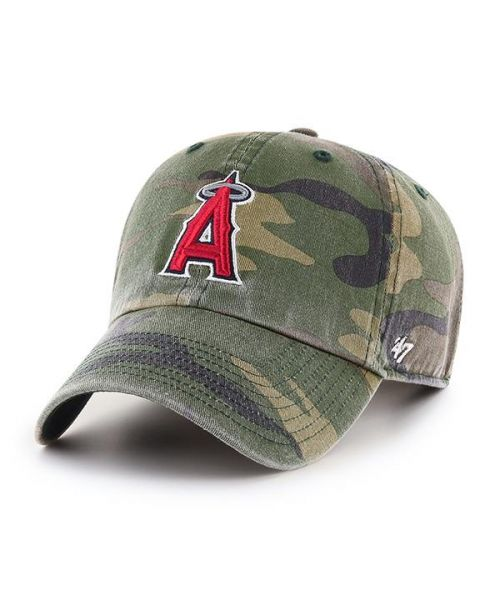 '47 Los Angeles Angels Camo Clean Up Green Camo Adjustable Adult Hat