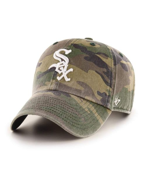 '47 Chicago White Sox Camo Clean Up Green Camo Adjustable Adult Hat