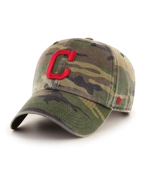 '47 Cleveland Indians Camo Clean Up Green Camo Adjustable Adult Hat