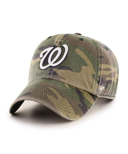 '47 Washington Nationals Camo Clean Up Green Camo Adjustable Adult Hat