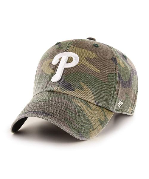 '47 Philadelphia Phillies Camo Clean Up Green Camo Adjustable Adult Hat