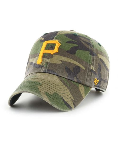 '47 Pittsburgh Pirates Camo Clean Up Green Camo Adjustable Adult Hat
