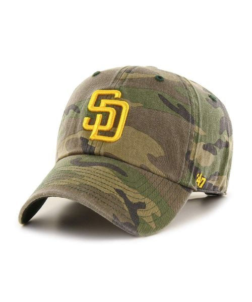 '47 San Diego Padres Camo Clean Up Green Camo Adjustable Adult Hat