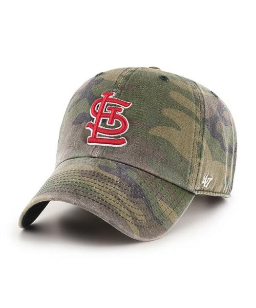 '47 St Louis Cardinals Camo Clean Up Green Camo Adjustable Adult Hat