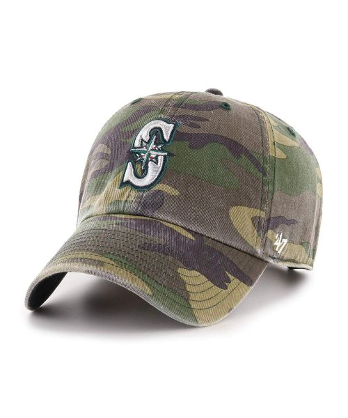 '47 Seattle Mariners Camo Clean Up Green Camo Adjustable Adult Hat