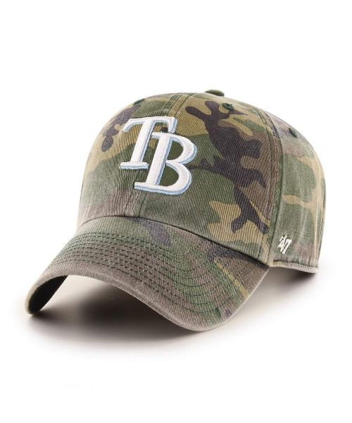 '47 Tampa Bay Rays Camo Clean Up Green Camo Adjustable Adult Hat