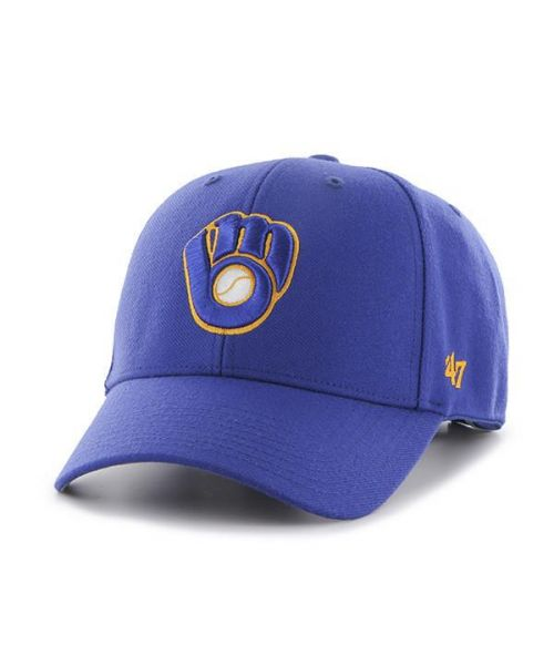 '47 Brand Milwaukee Brewers MLB MVP Adjustable Adult Hat Blue