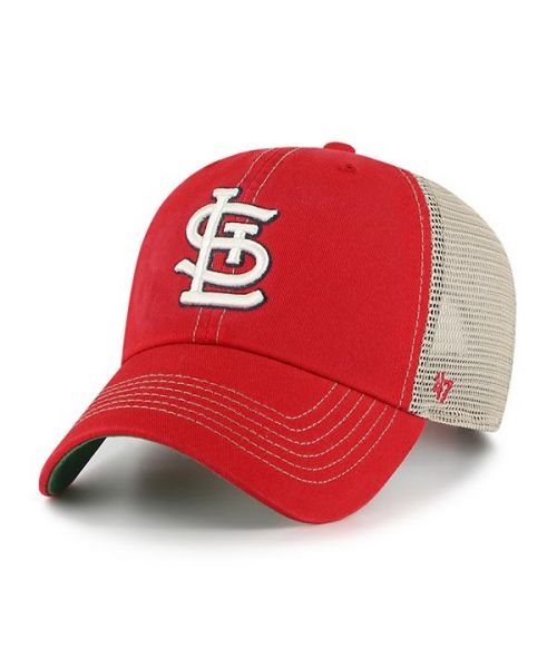 '47 St. Louis Cardinals Trawler Clean Up Snapback Trucker Red Hat