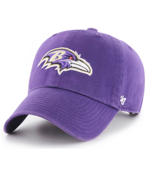 '47 Brand Baltimore Ravens NFL Clean Up Strapback Hat Purple