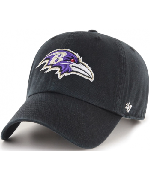 '47 Brand Baltimore Ravens NFL Clean Up Adjustable Strapback Hat Black