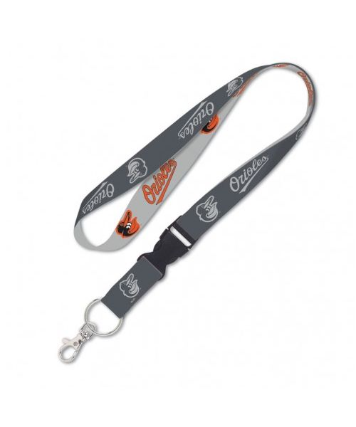Wincraft Baltimore Orioles MLB Authentic Lanyard with Detachable Buckle Charcoal Light Gray