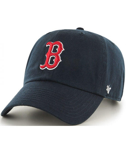'47 Brand Boston Red Sox MLB Clean Up Adjustable KIDS Strapback Hat Navy Blue