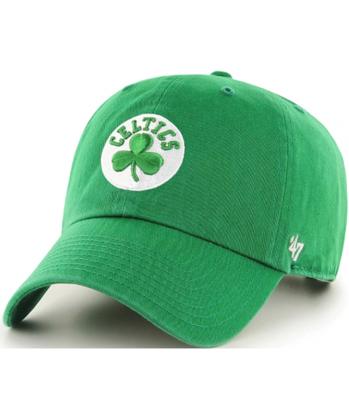 '47 Brand Boston Celtics NBA Clean Up Adjustable Strapback Hat Green