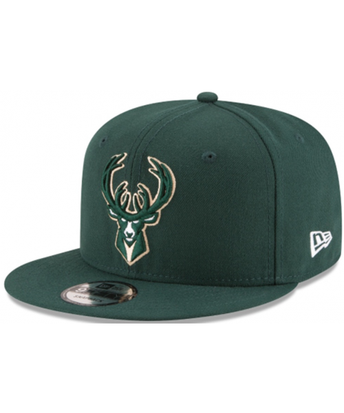 New Era Milwaukee Bucks NBA Basic OSFA 9FIFTY Snapback Hat Green