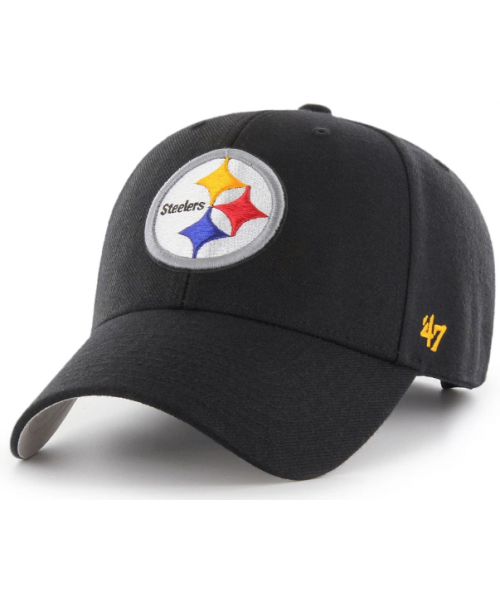 '47 Brand Pittsburgh Steelers NFL MVP Adjustable Velcroback Hat Black