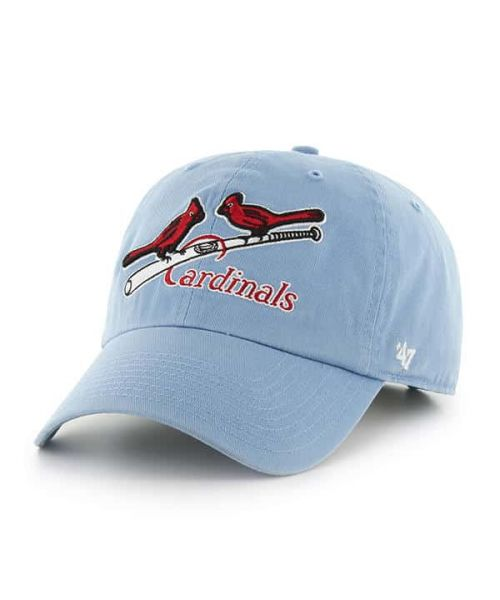 '47 Brand St. Louis Cardinals MLB Clean Up Adjustable Adult Hat Light Blue