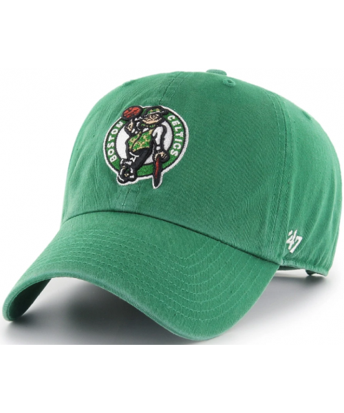 '47 Brand Boston Celtics NBA Clean Up Adjustable Strapback Hat Green Mascot Logo