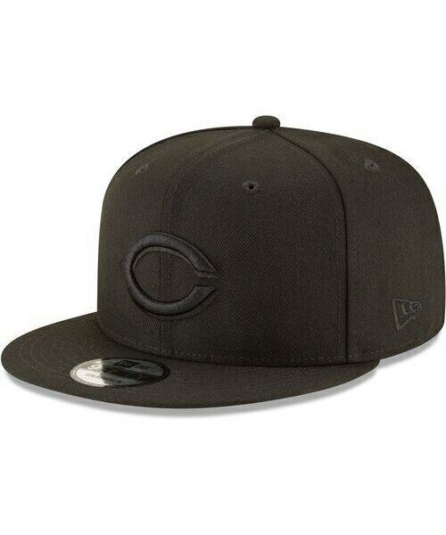New Era Cincinnati Reds MLB Basic Snap OSFA 9FIFTY Snapback Hat Black on Black